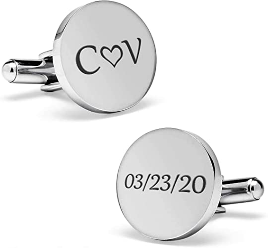 Wedding Cufflinks Engraved Brides Son Cuff Links Anniversaty Party Accessories Gift