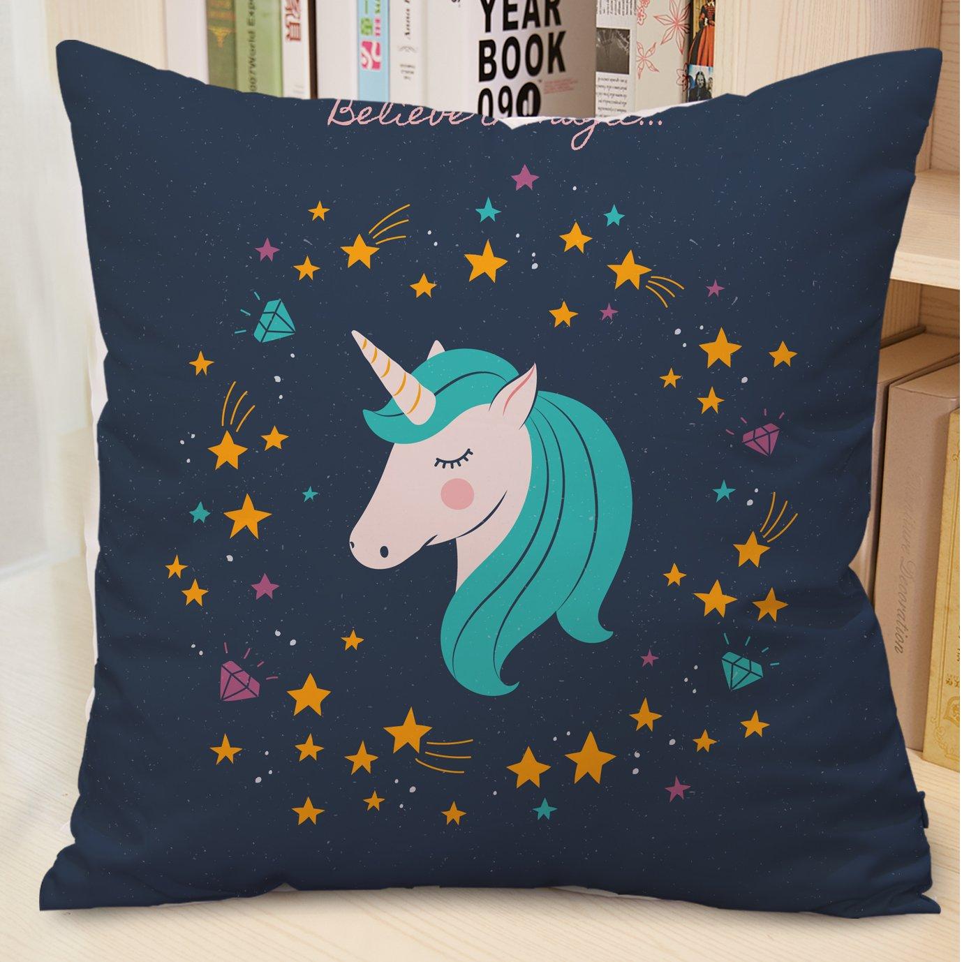 Motivo Unicorni 45 X 45 Cm Stampa Su Due Lati 4 Pack A Federa Per Cuscino Decorativo Tessili Per La Casa Casa E Cucina Nsb Group Com
