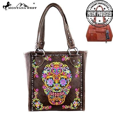 d12fc43a9ec9 MW326G-8113 Montana West Sugar Skull Collection Handbag