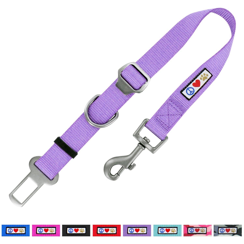 Pawtitas Cintur/ón de seguridad de coche para perros con correa de sujeci/ón para mascotas color azul