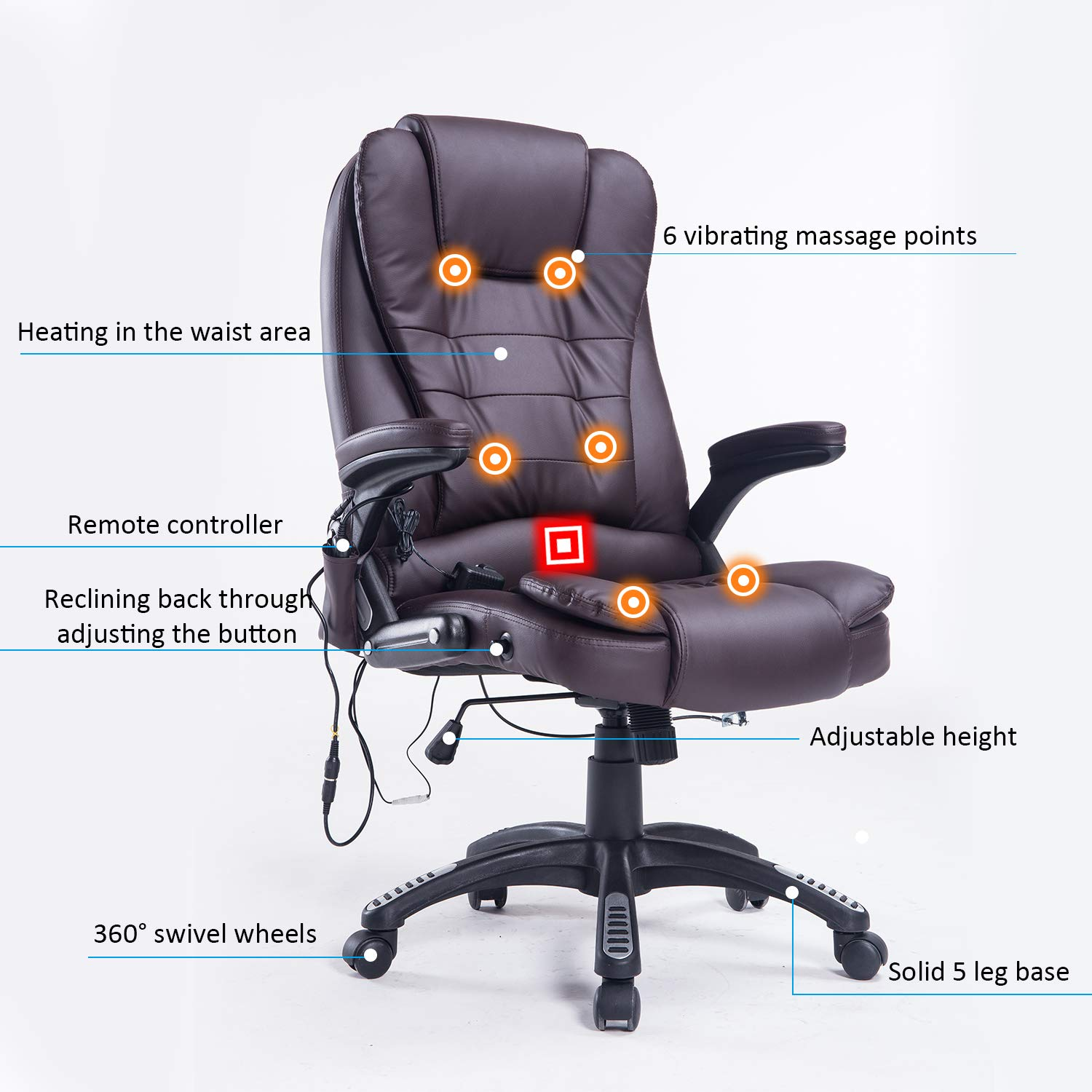Home Office Computer Desk Massage Chair - Buy Online in United