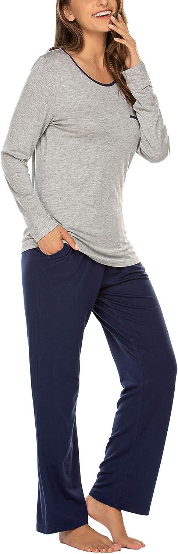 MAXMODA Pigiama Due Pezzi Donna Pigiami Primavera Estate Ragazza Manicha Corta con Pantalocini S-XL