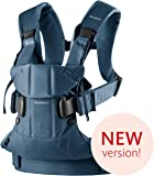 BABYBJÖRN Baby Carrier One, Cotton Mix, Classic Denim/Midnight Blue, 2018 Edition