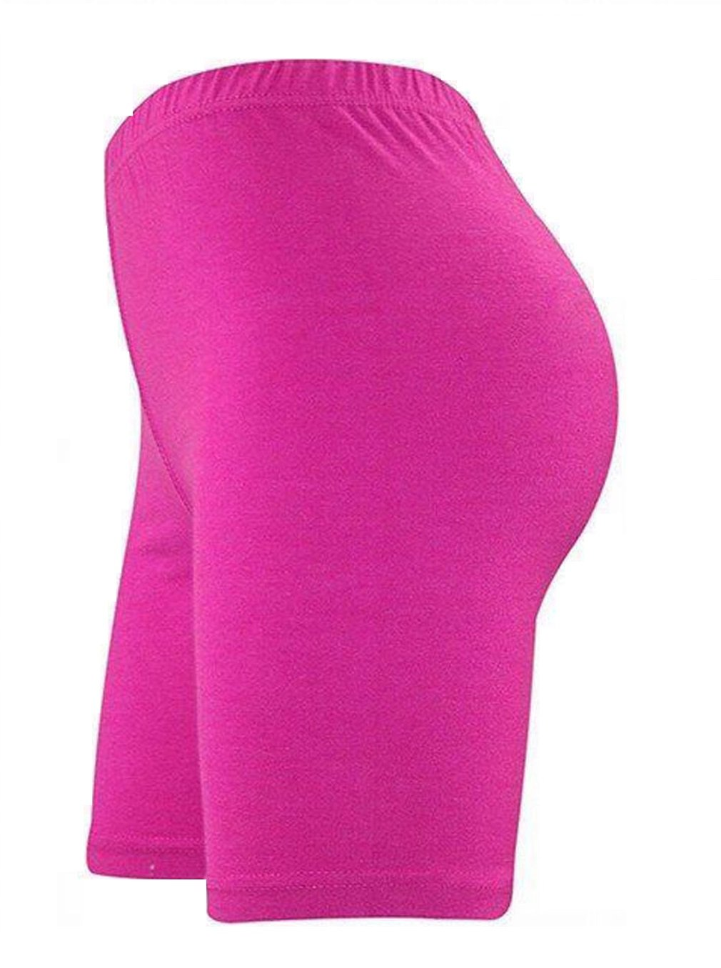 Funky Fashion New Womens Plain Cycling Bike Dancing Gym Short 8-26