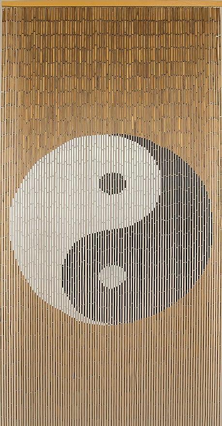beadedstring natural bamboo wood beaded curtain 90 strands 80 high boho door beads bohemian doorway curtain 35 5 wx80 h tao