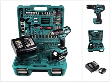 Makita DHP 483 SMTK - Atornillador de impacto (18 V, con batería de ...
