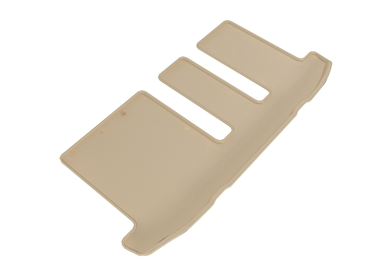 3D MAXpider Third Row Custom Fit All-Weather Floor Mat for Select Infiniti QX60/ Nissan Pathfinder Models - Kagu Rubber (Black)