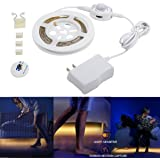 Motion Activated Bed Light, Huamai Flexible LED Bed Strip Light Kit Motion Sensor Night Light Bedside Lamp Cabinet Light Illumination with Automatic Shut Off Timer (Single Bed)