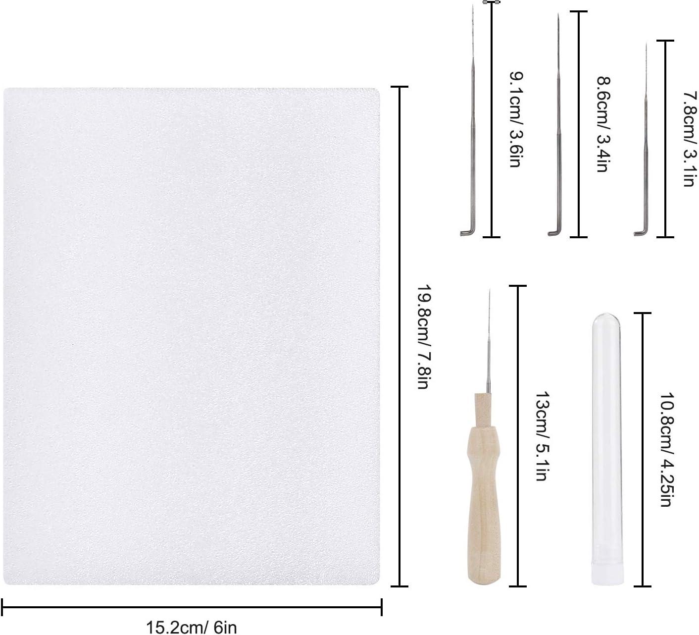 Kit de Feutrage de Laine Outils de Feutrage pour D/ébutant Filage /à la Main Bricolage Mat/ériaux Dartisanat 48 Pi/èces