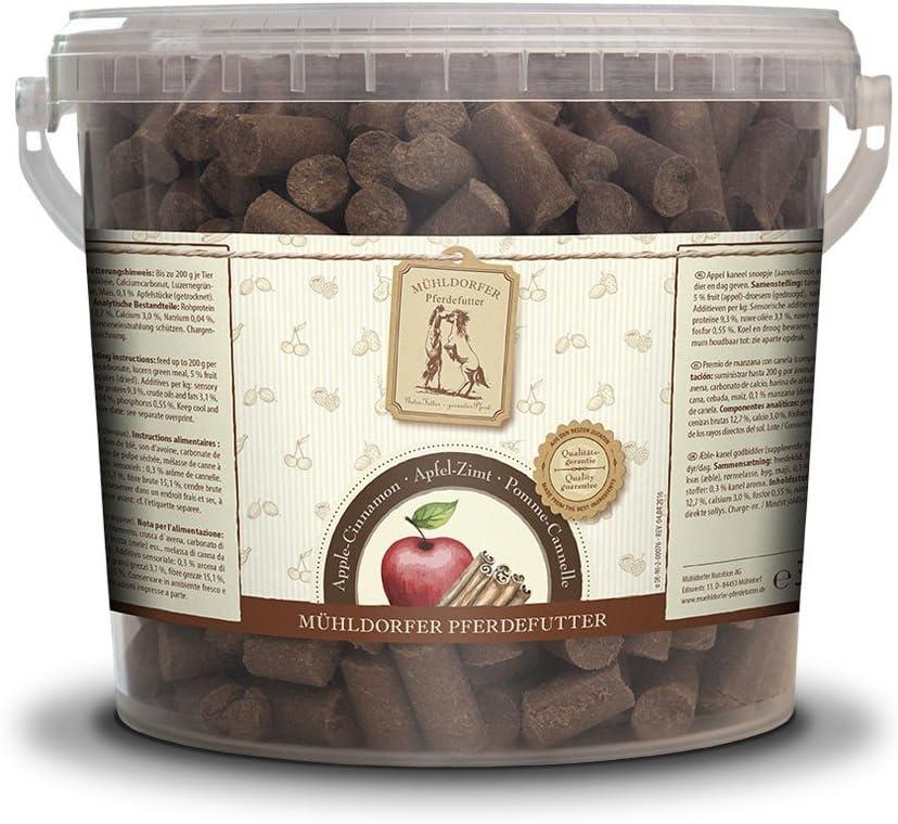 Mühldorfer - Pienso de Manzana y Canela (3 kg, para Caballos, con Manzanas y Sabor a Canela, no se pegue)