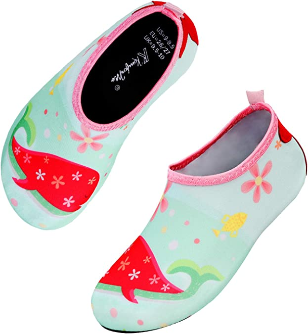 Aqua Socks Pool /& Beach W... Kids Summer Non-Slip Lightweight Swim Water Shoes
