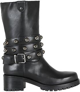 99f982435a5a7 Scarpe Cult donna cle103098 metallica boot 1808 pelle alta black bikes  lover fw 17 18