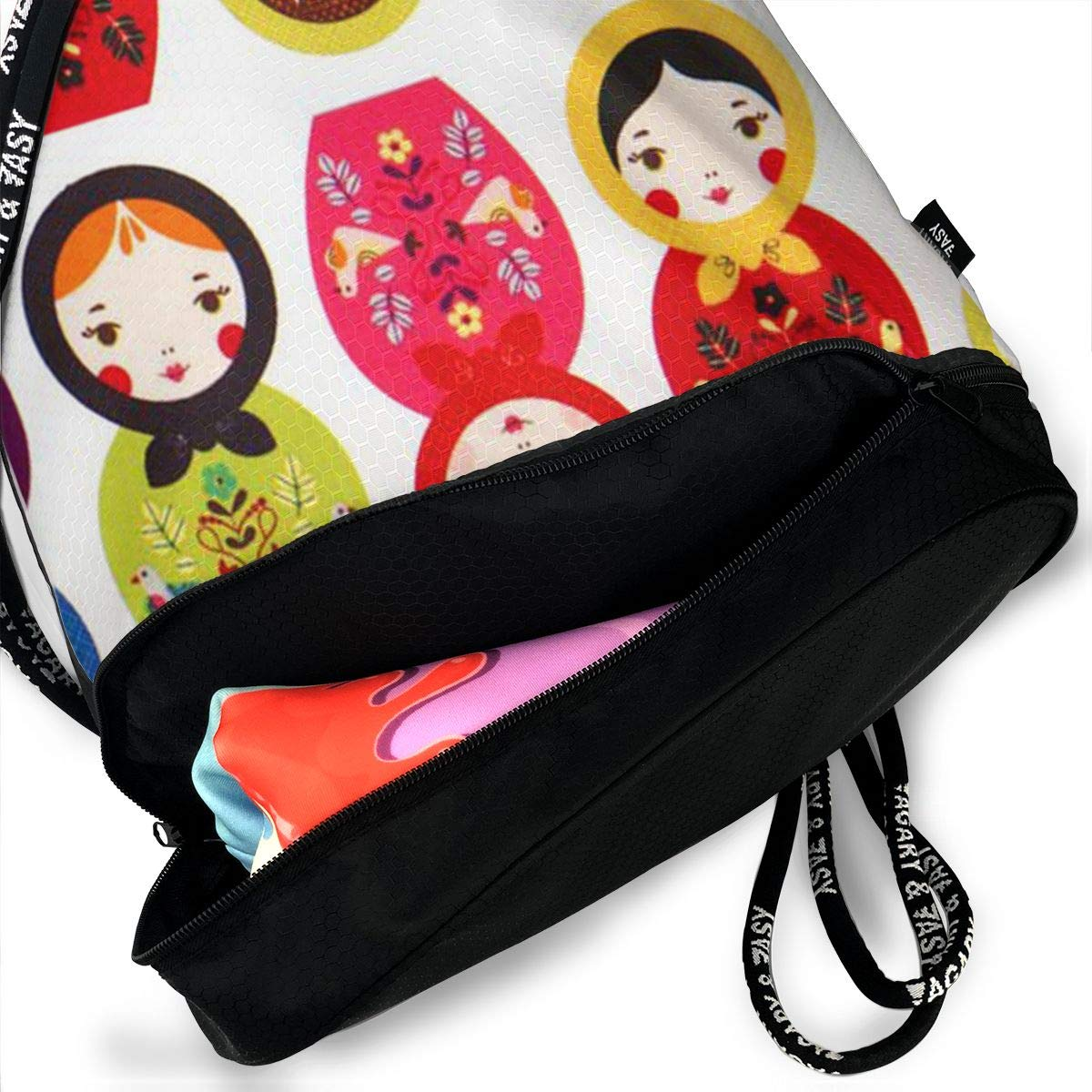 694cd7c0e885 Amazon.com: OLOSARO Drawstring Bag Russian Matryoshka Nesting Dolls ...
