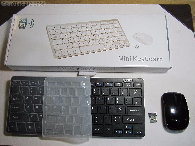 Negro Wireless Mini teclado y ratón para Samsung 40