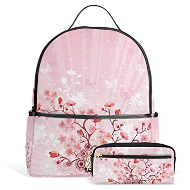 03c397b0c891 Amazon.com: Japanese Sakura Cherry Blossom Unisex Canvas School ...