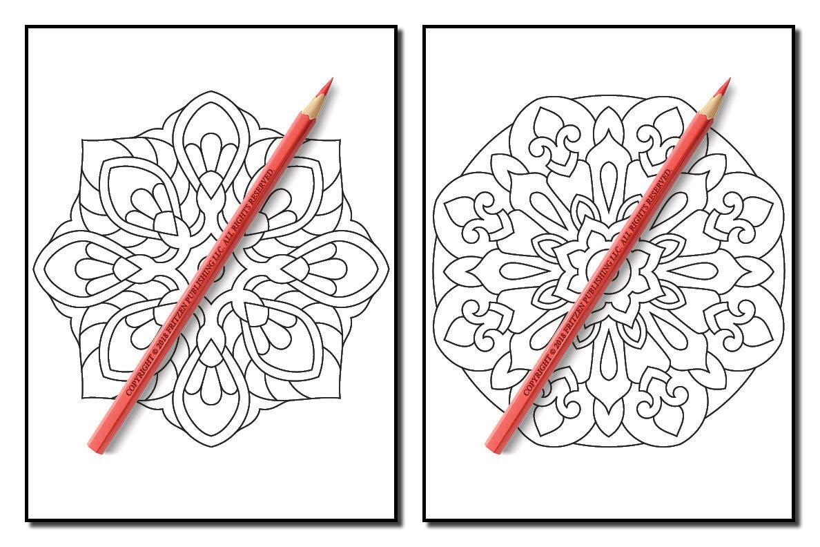 Amazon.com: Mandala Coloring Book: A Kids Coloring Book with Fun ...