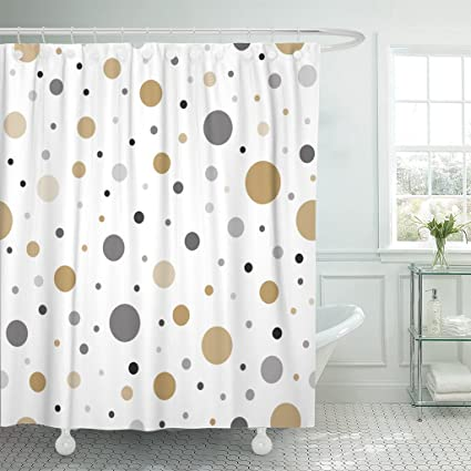 Image Unavailable Not Available For Color TOMPOP Shower Curtain Classic Dotted Gold