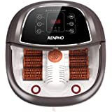 RENPHO Foot Spa Bath Massager, Motorized Massage, Fast Heating, and Powerful Bubble Jets, Automatic Shiatsu Massaging Rollers