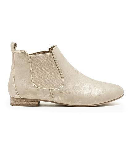 Gemo 30387720563 Chelsea Boots BI-Matière Pour Femme - Or - T39 ... 54b1081d13e