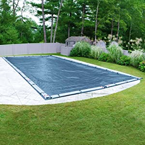 Pool Mate 352040RPM Heavy-Duty Blue Winter Pool Cover for In-Ground Swimming Pools, 20 x 40-ft. In-Ground Pool