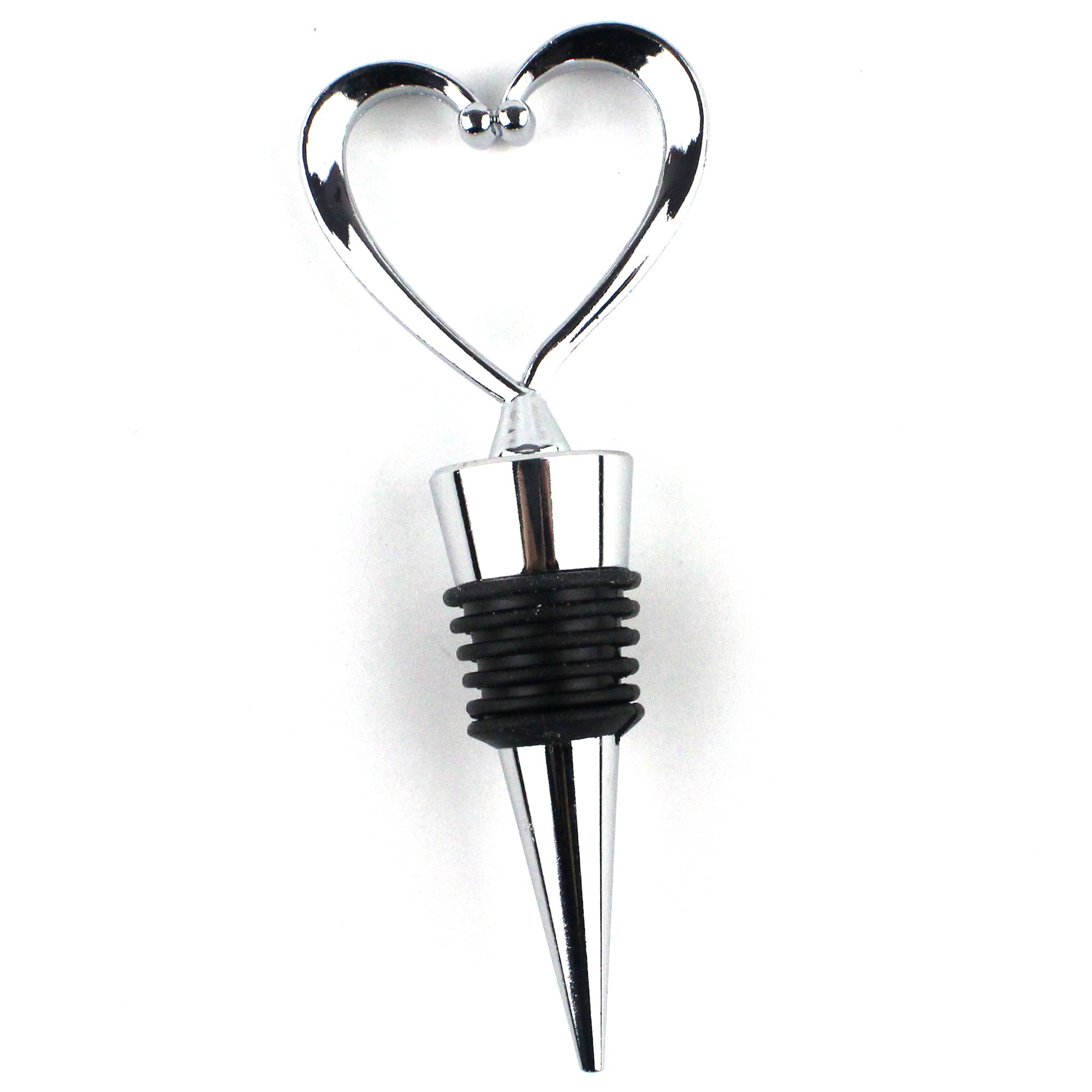 Lovelyou OTHER 11 Stainless Steel Love Design Heart Shape Wine and Beverage Bottle Stoppers (3) by Lovelyou (Image #1)