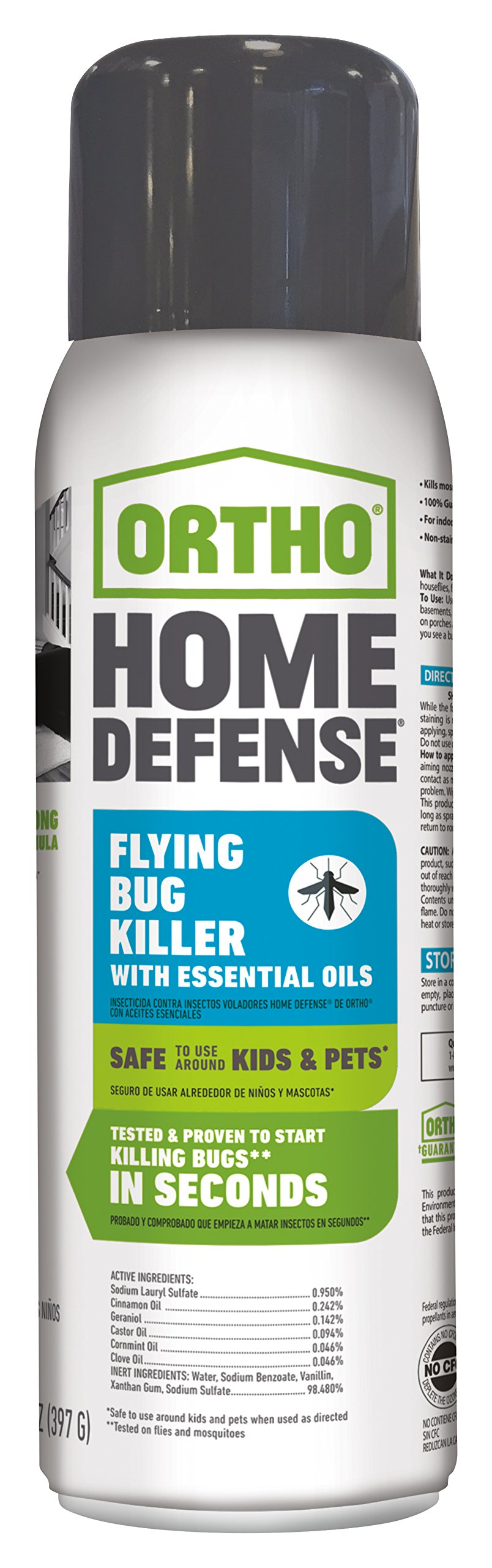 Ortho Home Defense Flying Bug Killer with Essential Oils Aerosol 14 oz