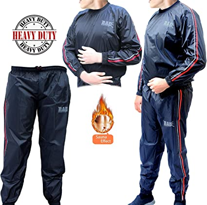 Sauna Sweat Suit Fitness Slimming Weight Loss Exercise Running Boxing All Size