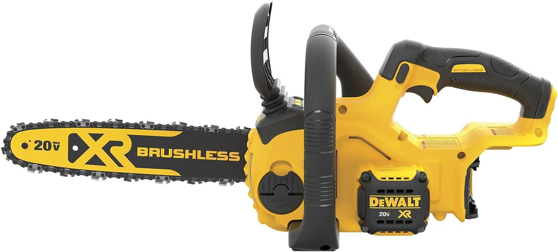 1. 20V DeWalt DCCS620P1 Compact 12-Inch Electric Chainsaw Kit