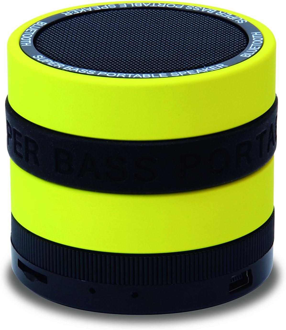 Conceptronic CSPKBTSBY 3 W Negro, Amarillo - Altavoces portátiles (3 W, 85 dB, 0,5%, Inalámbrico y alámbrico, 10 m, Mini-USB)