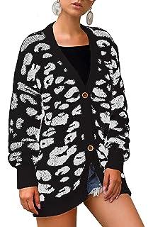 Amazon.com: Ashuai - Chaqueta de punto para mujer, diseño de ...