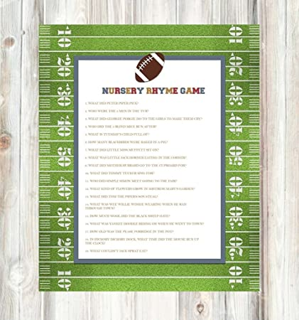 amazon com vintage retro tailgate football baby shower invitations