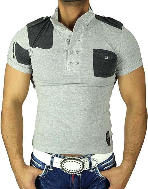 Rusty Neal Hombre Polo de Japón Style Camisa Polo Camiseta de ...