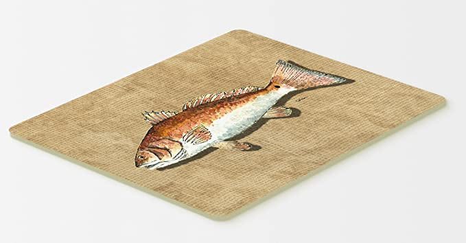 Multicolor Carolines Treasures 8983CMTRed Fish Swim Kitchen or Bath Mat 20 H x 30 W