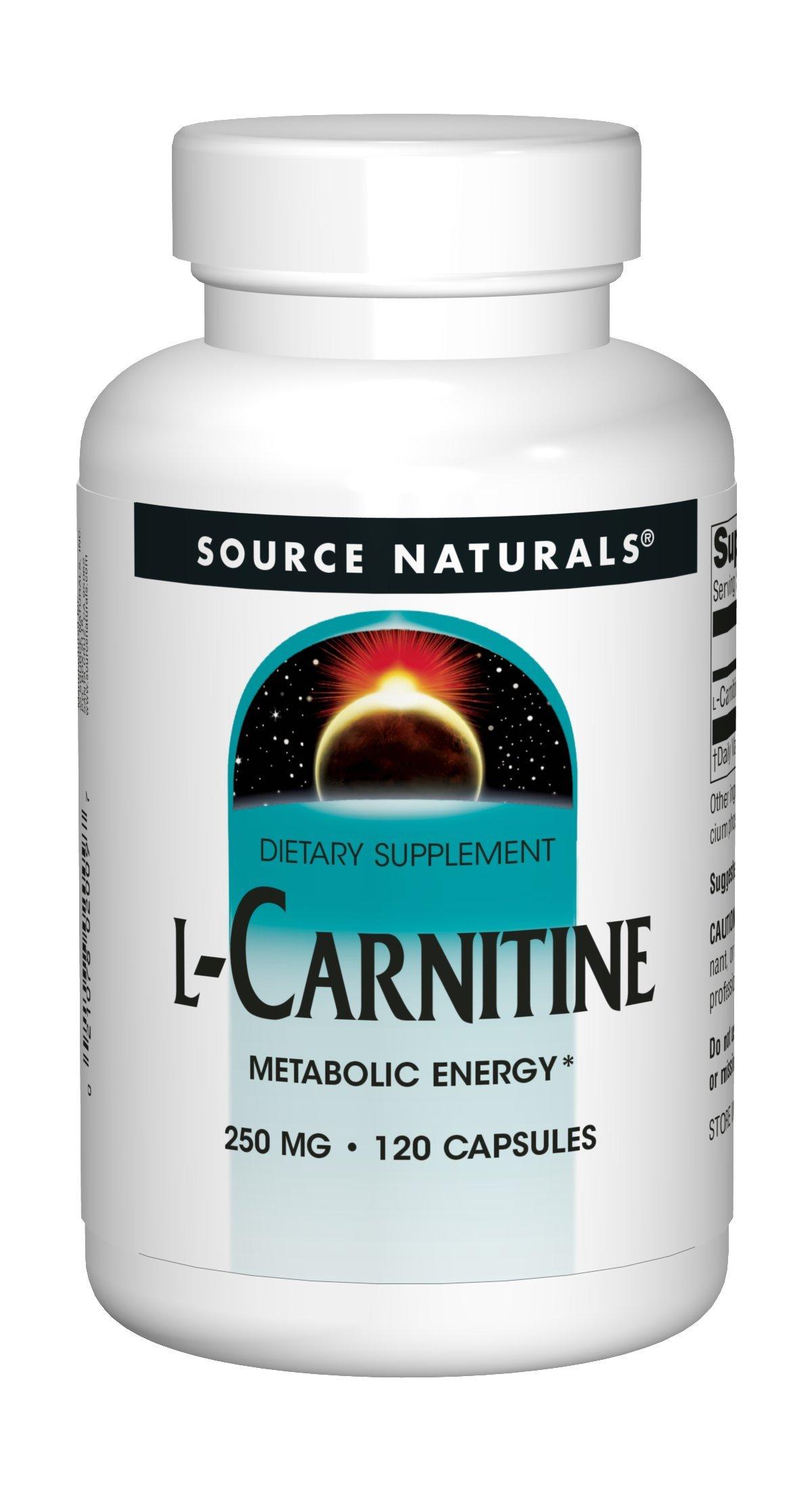 Source Naturals L-Carnitine 250mg - 120 Capsules