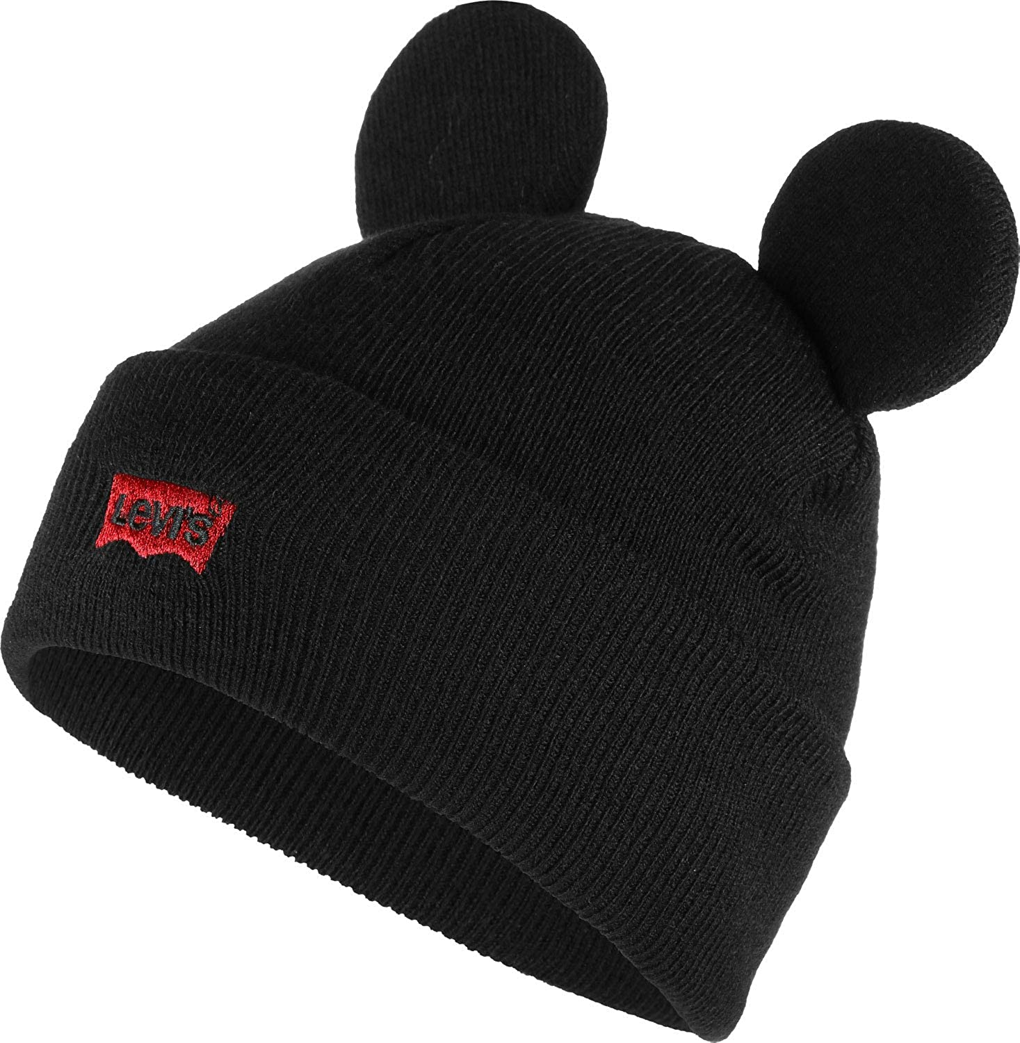 cebc00a3 Levi's Men's Mickey Mouse Ears Beanie (Noir Regular Black 59), One (Size:  UN): Amazon.co.uk: Clothing