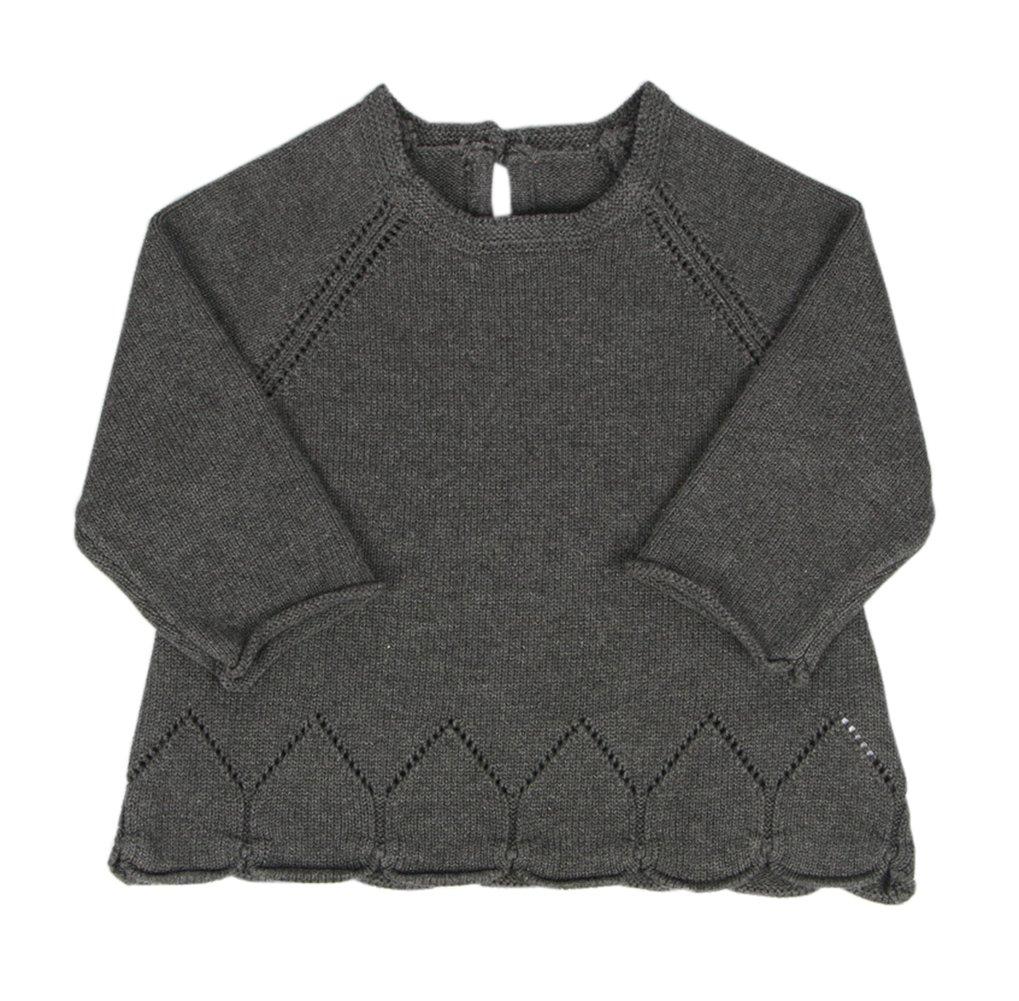 Taiycyxgan Baby Toddler Girls Petal Fine Knit Pullover Sweater Winter Sweater Cotton Sweatshirt Grey 80