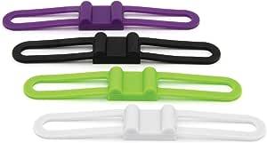 Outdoor Tech OT1302 Buckshot 4P - Speaker Mount Straps Pack of 4 (Multi-Colored)