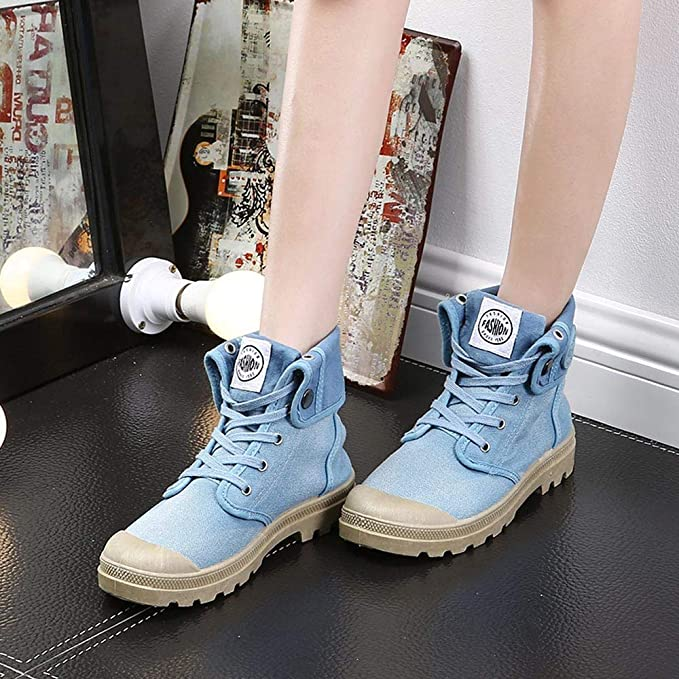 Amazon.com: Women Ankle Boots,Sunyastor Palladium Style Fashion High-top Military Ankle Shoes Casual Low Heel Shoes Ankle Booties: Home & Kitchen