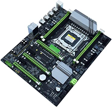 Findema Negro Placa Base Dual USB 3.0 para computadora LGA2011-3 Pin CPU Cuatro Canales Soporte de Memoria DDR4 Placa Base Kit de Memoria de Escritorio de Alto Rendimiento