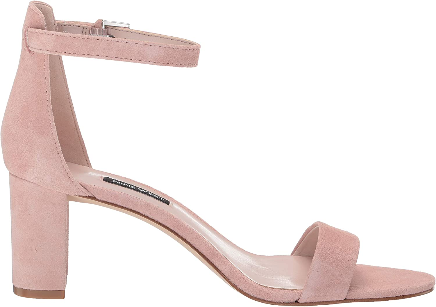 NINE WEST Womens Pruce Cotton Open Toe Formal Ankle Strap Sandals Rosa Moderno