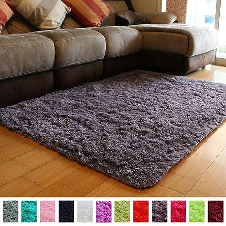 Amazon.com: PAGISOFE Soft Fluffy Shaggy Area Shag Rugs for Bedroom ...