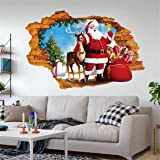 Christmas Wall Decals - Coerni Removable Waterproof Wall Stickers 27.6'' * 19.7''