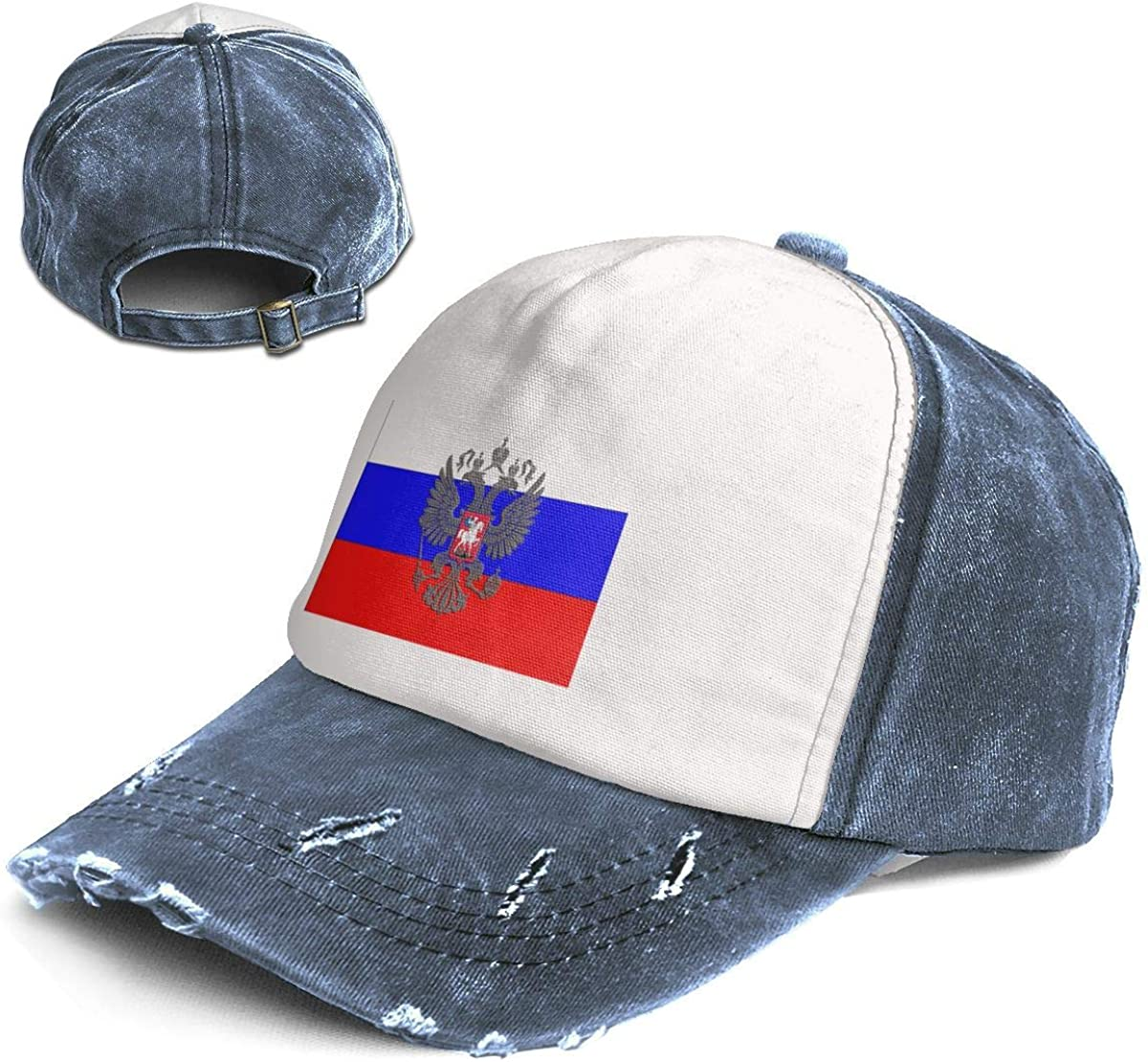 Fashion Vintage Hat Russian Flag Russian Coat of Arms Adjustable Dad Hat Baseball Cowboy Cap