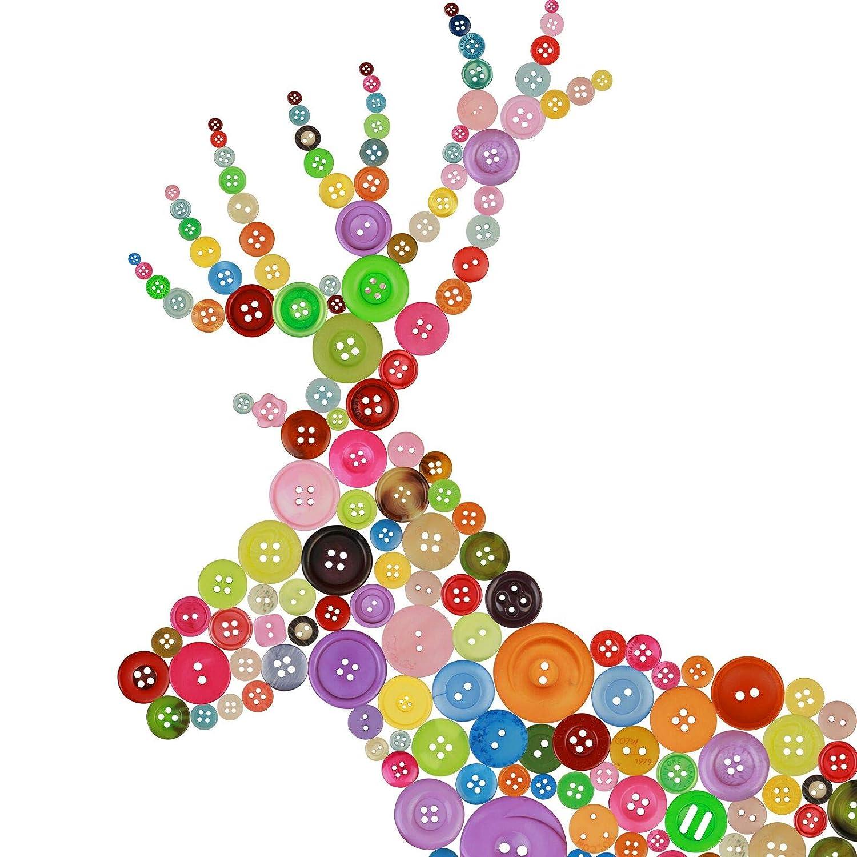 600pcs botones color vivo vintage ZoomSky botones manualidades ...