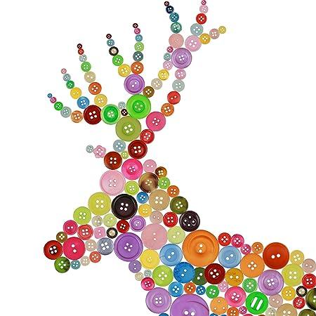 Botones 100//300 Piezas Ornamento Ropa 9-15 mm Tejido Punto Resina Artesan/ía Botones Peque/ños Bot/ón de Costura Colores Mezclados Surtidos con Caja de Pl/ástico para Manualidades Costura DIY