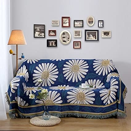 HYLRUS European style living room cotton Sofa blanket Double-sided pattern  carpet bedroom Cover blanket 11fde7bae