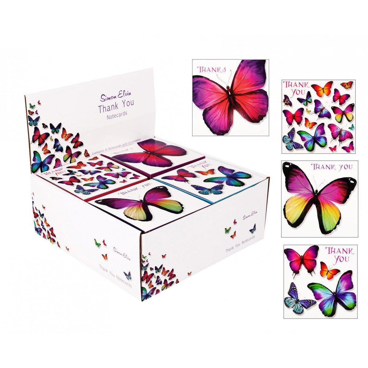 Simon Elvin Lot de 8/cartes remerciement de 133/x 133/mm /& cadeau gratuit