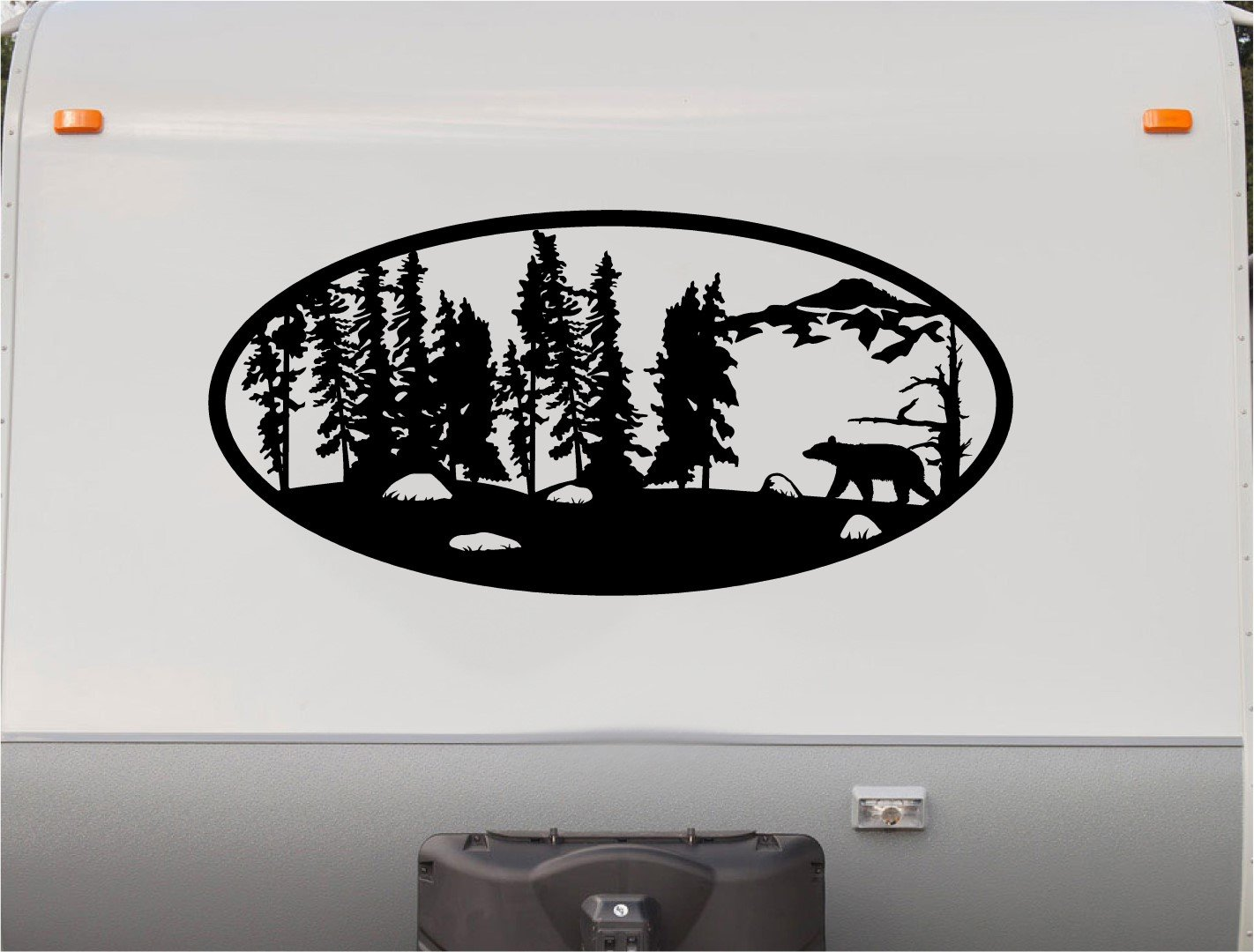 Trees bear hunting mountains motor home stripe kit rv stickers trailer stickers camper vinyl decal sticker graphic motorhome decals rv stripe kit