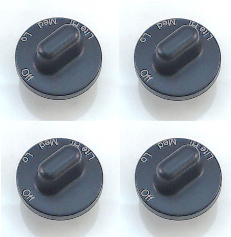 Wadoy Burner Maytag, Jenn Air ガスレンジノブ AP4088491, PS2077264, 71001641(4パック) ノーマル ブラック   B00VU2H80W