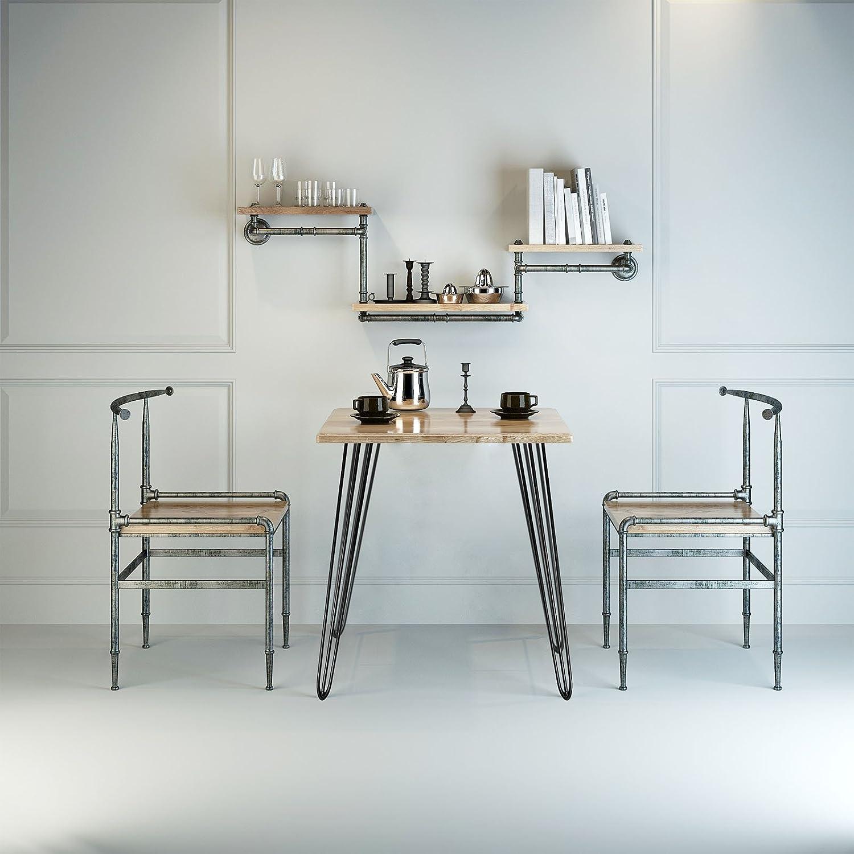 Patas horquilla mesa set 4 negro 20cm Hairpin Legs dise/ño industrial vntage retro tendencia muebles